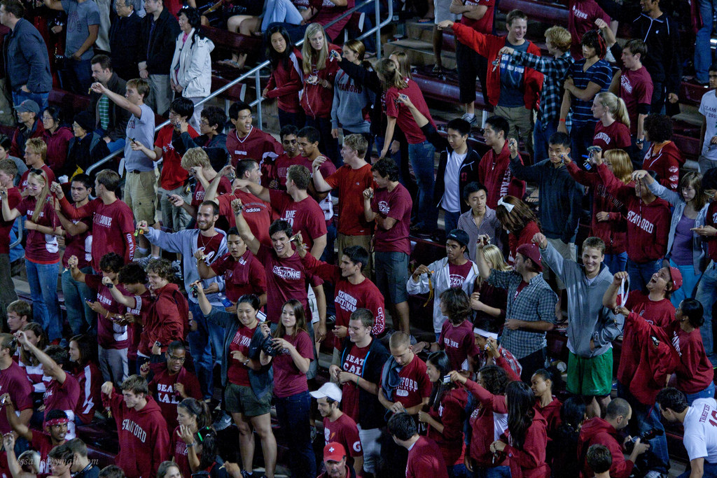 NCAA football Stanford Cardinal fans at the game