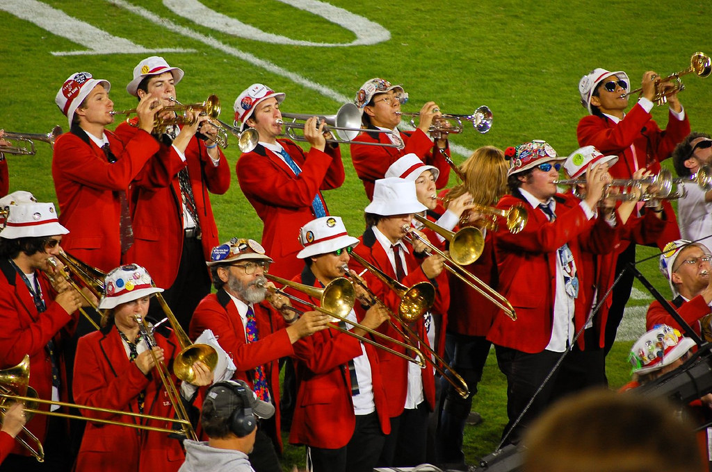 Stanford Cardinal band performance