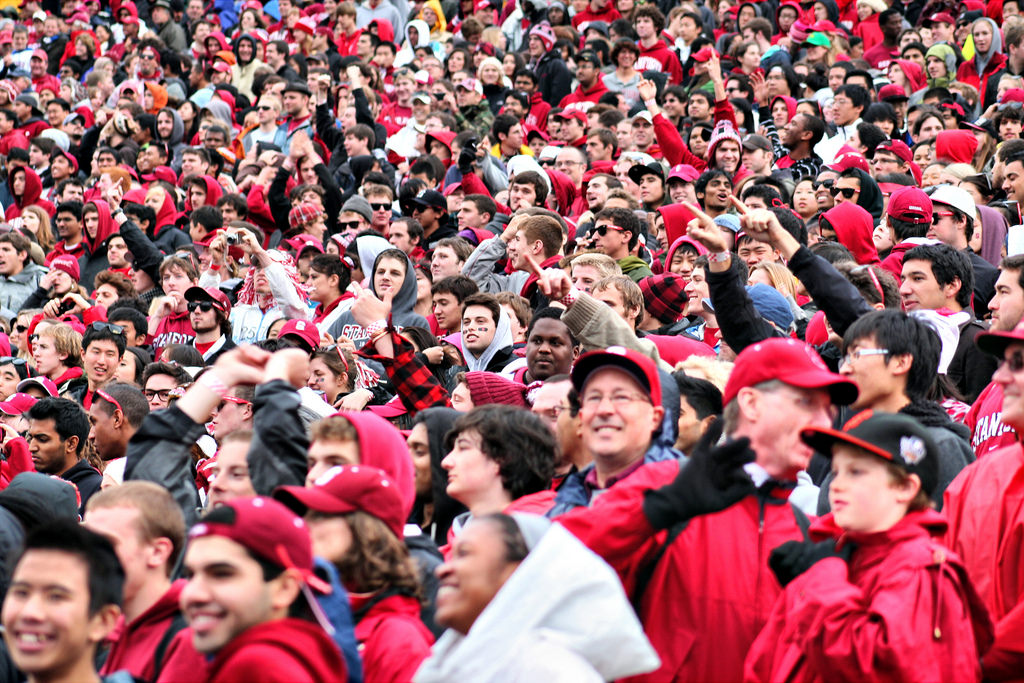 fans at Stanford Cardinal football game