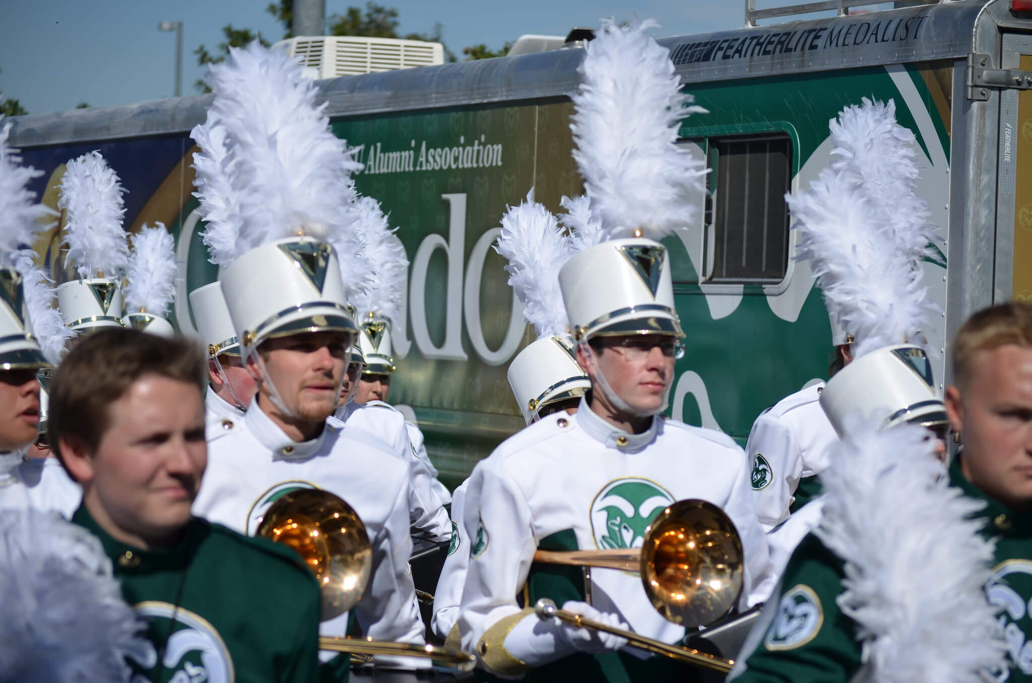 Colorado State Rams marching band tailgate