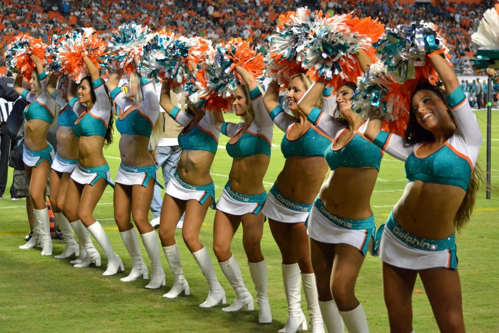 Miami Dolphins Cheerleaders performance