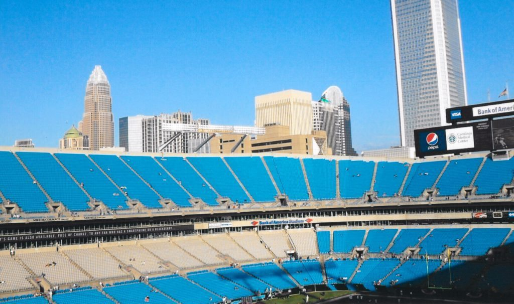 Skyline Views Bank of America Stadium