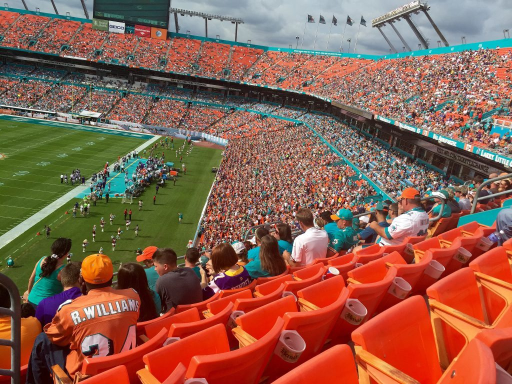 Miami Dolphins fans at Hard Rock Stadium