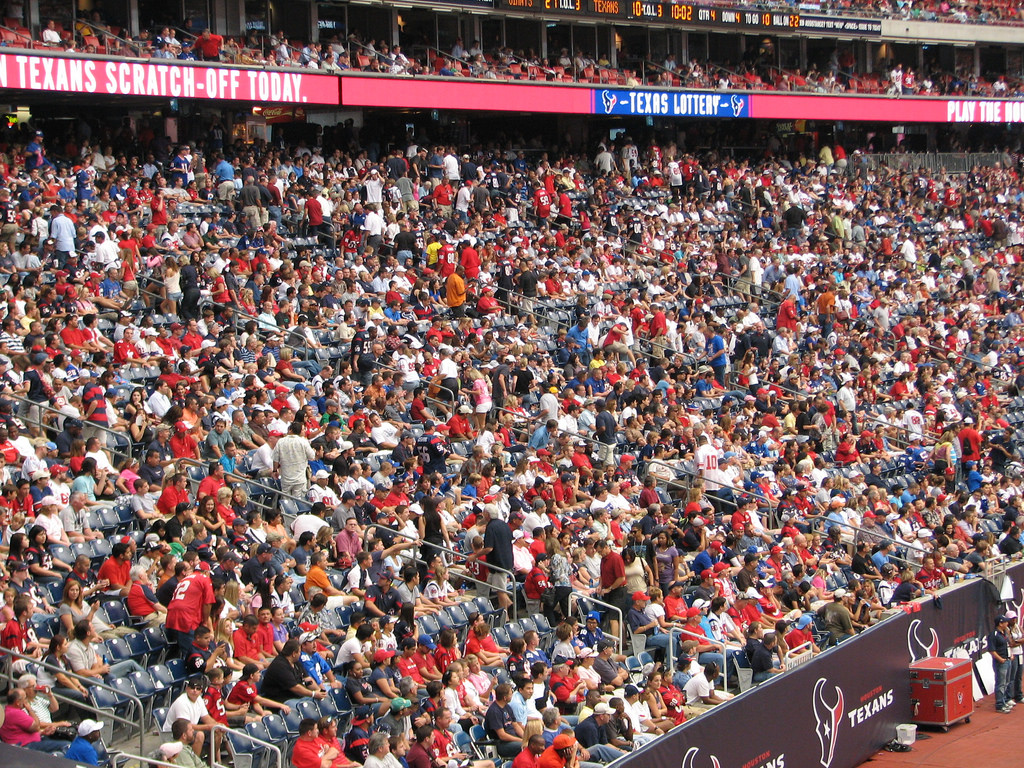 fans watching Houston Texans game at NRG Stadium