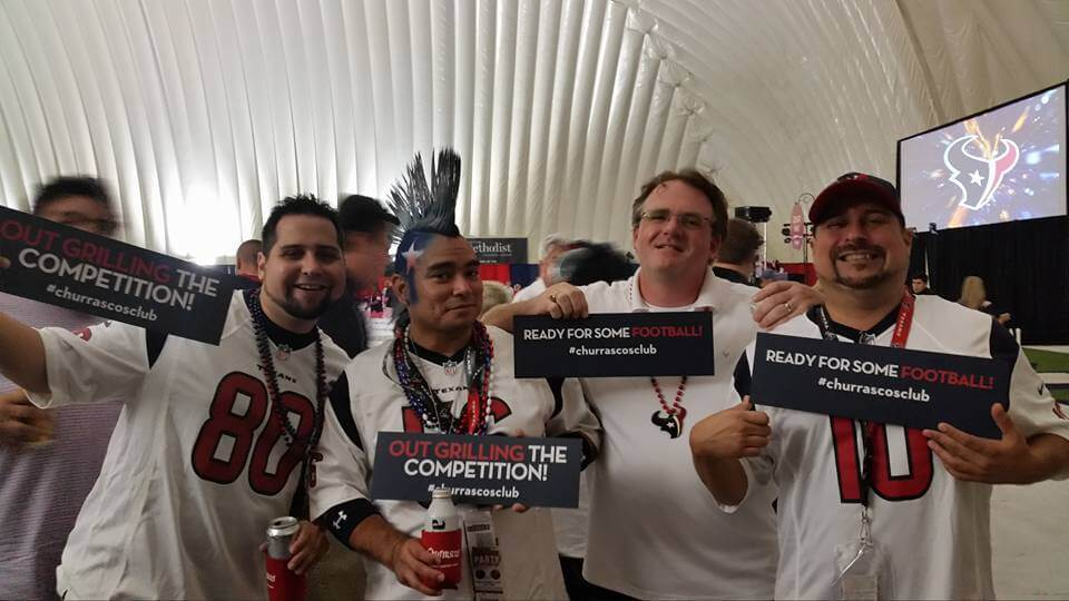 Houston Texans fans tailgating at Churrascos Club