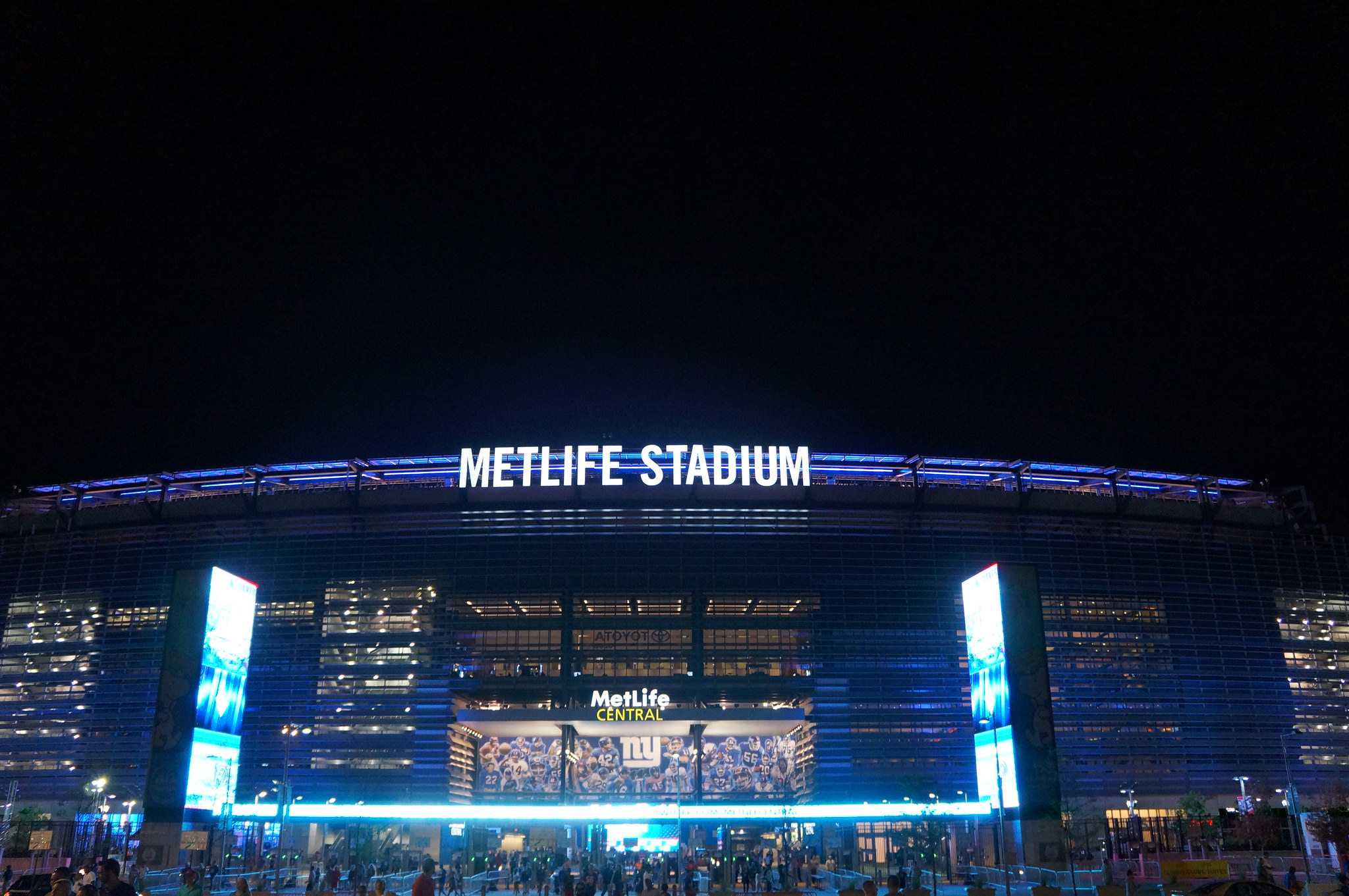 LED Pylons Outside MetLife Stadium New York Giants video footage