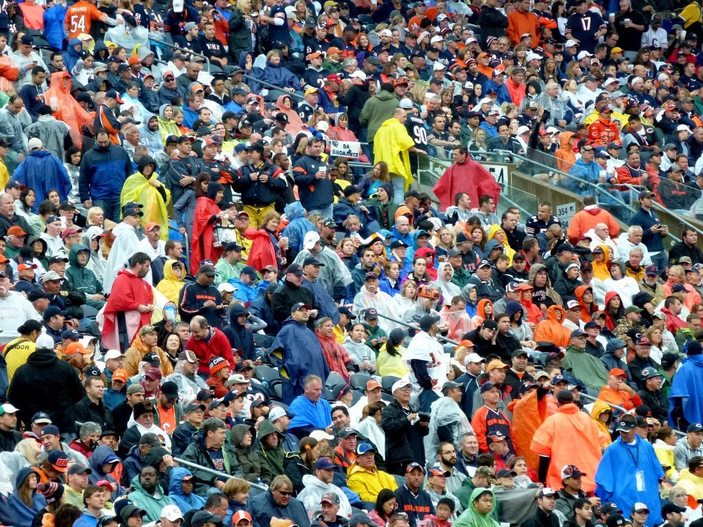 Chicago Bears fans at the game