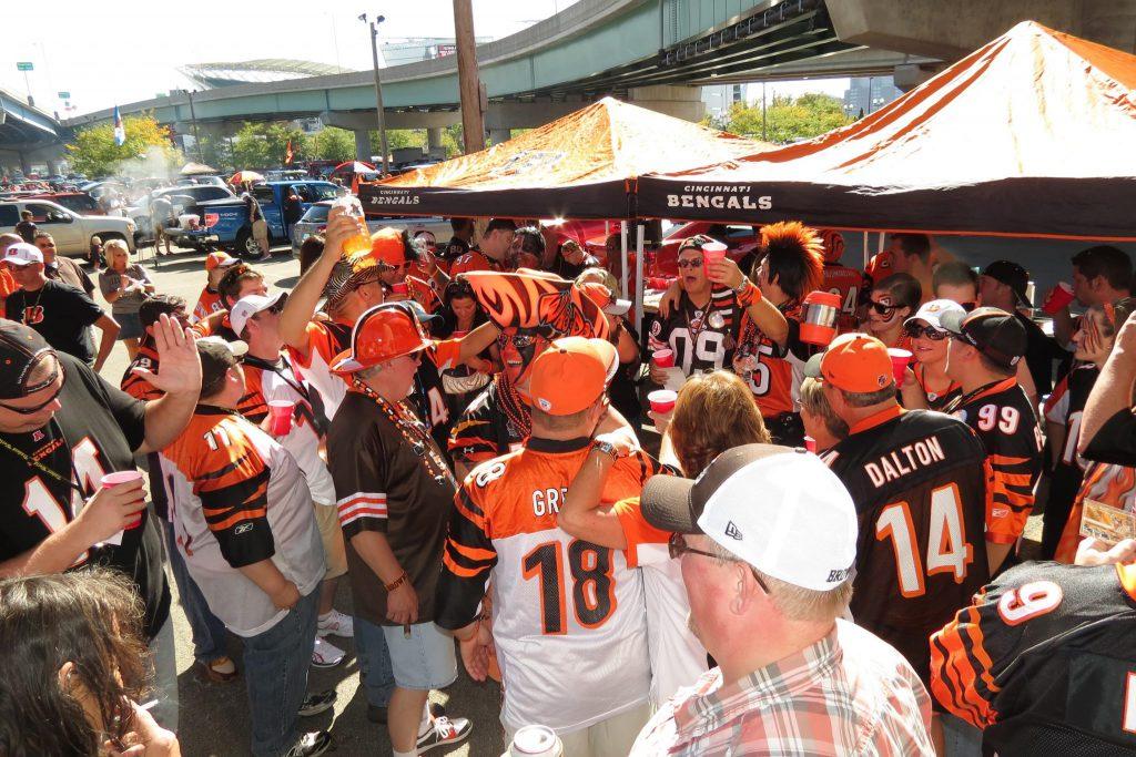 Cincinnati Bengals fans tailgate party