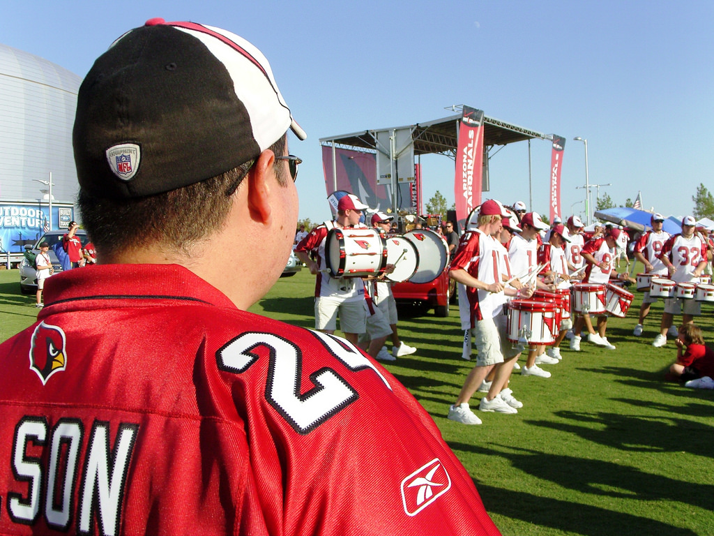 Arizona Cardinals great lawn tailgating drum line