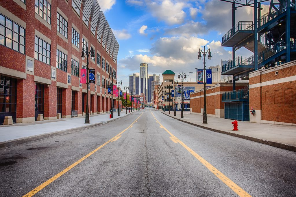view of the Detroit from Ford Field