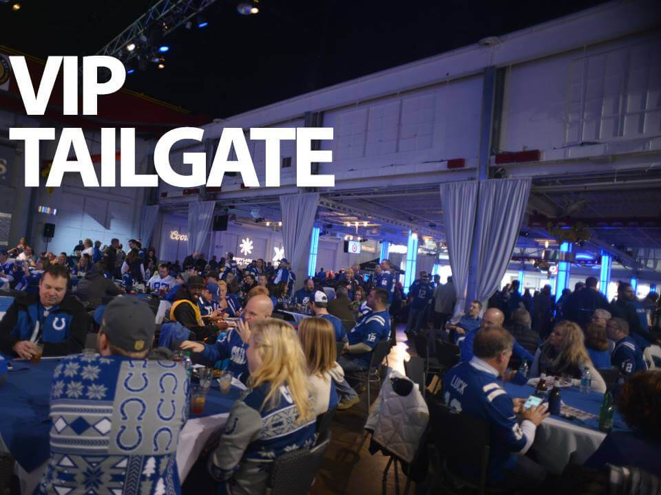 Indianapolis Colts VIP Tailgate Crane Bay Event Center