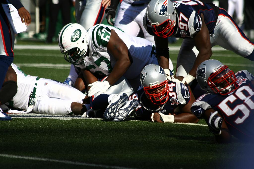 NFL football game NY Jets New England Patriots Rivalry