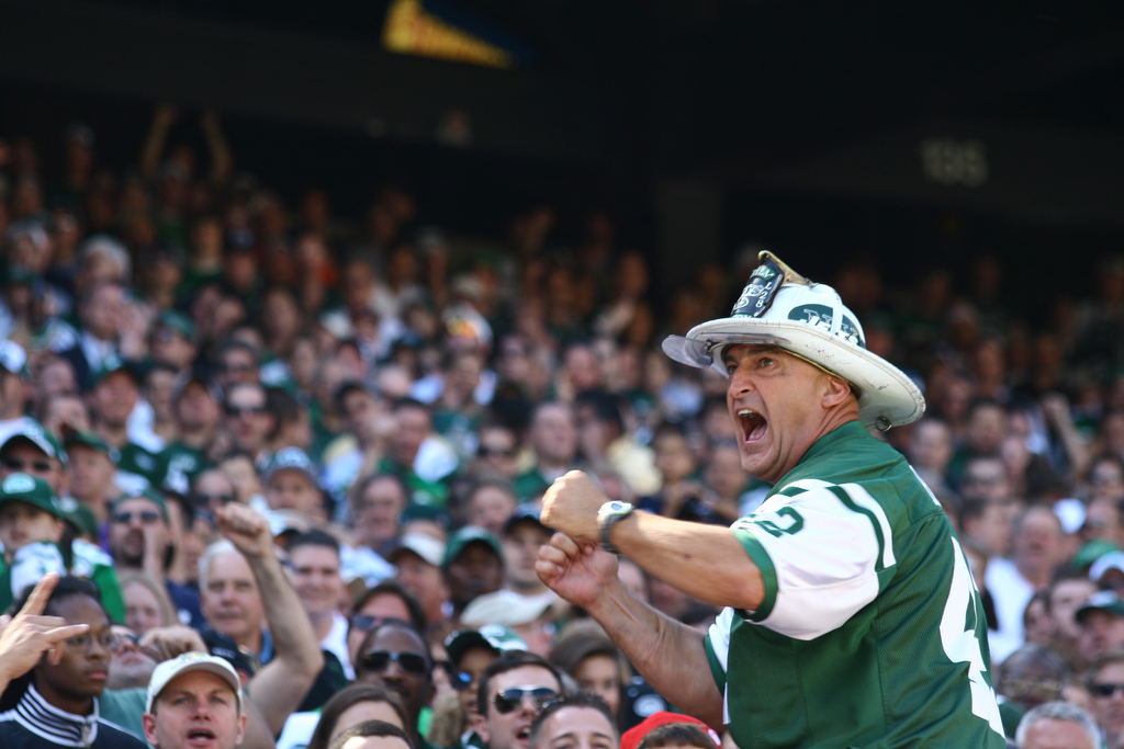 Fireman Ed fan New York Jets game day tradition