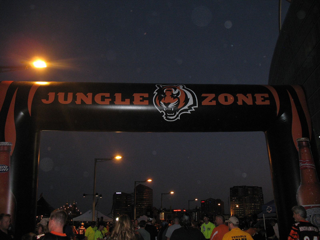 Jungle Zone at the the east plaza level of Paul Brown Stadium