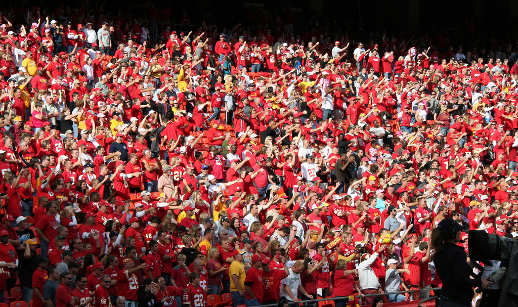 The Sea of Red fans at Kansas City Chiefs game