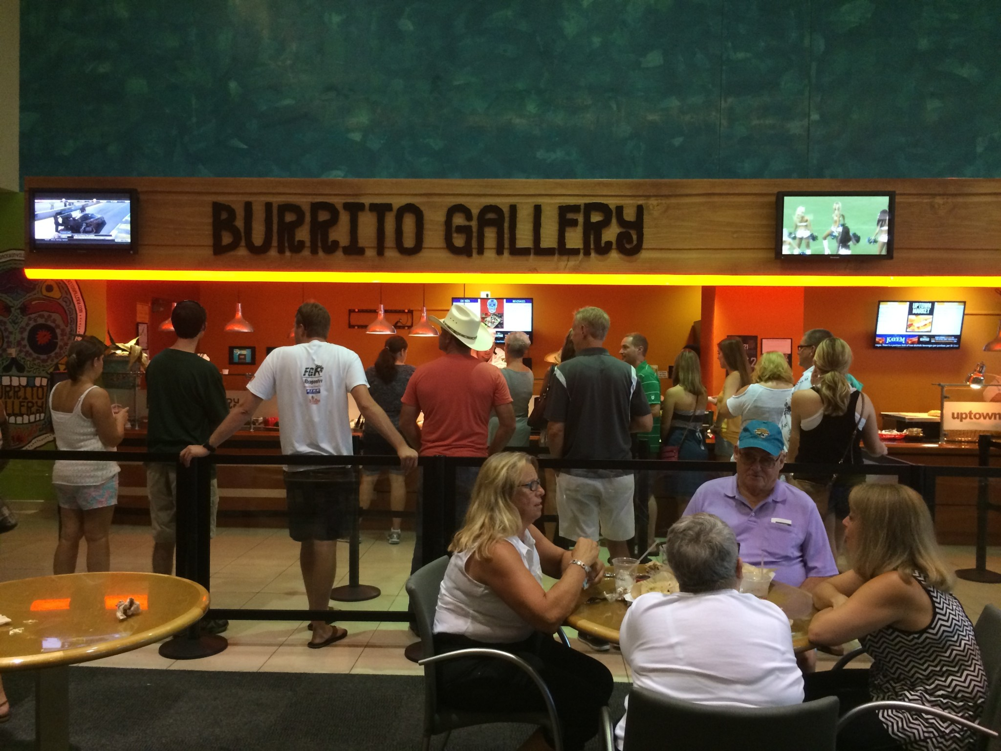 Mexican food at Burrito Gallery in TIAA Bank Field Jacksonville Jaguars game