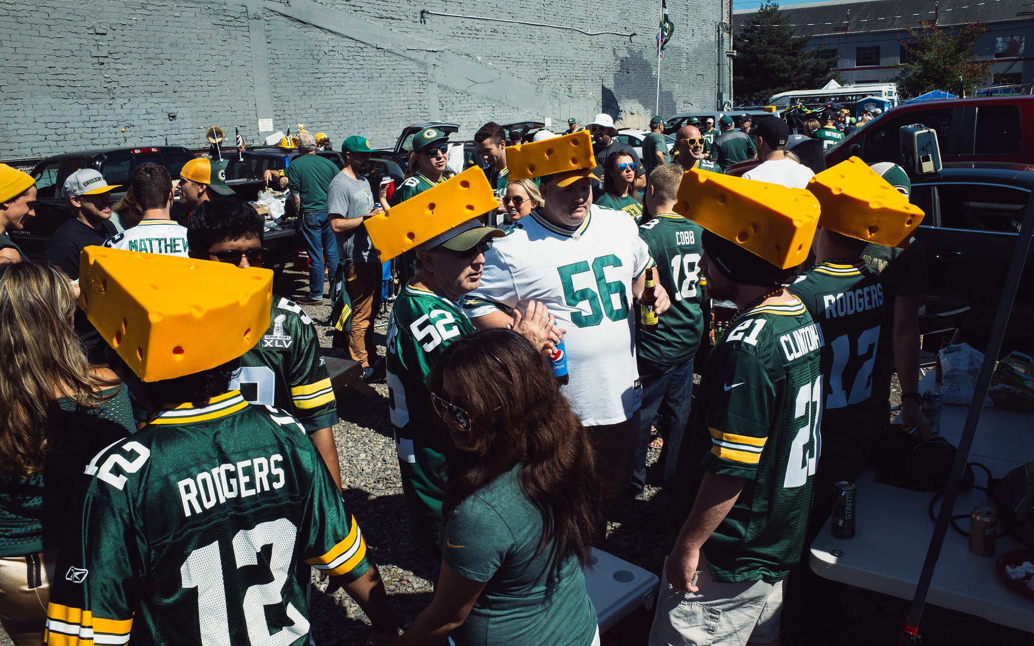 Green Bay Packers fans Cheeseheads