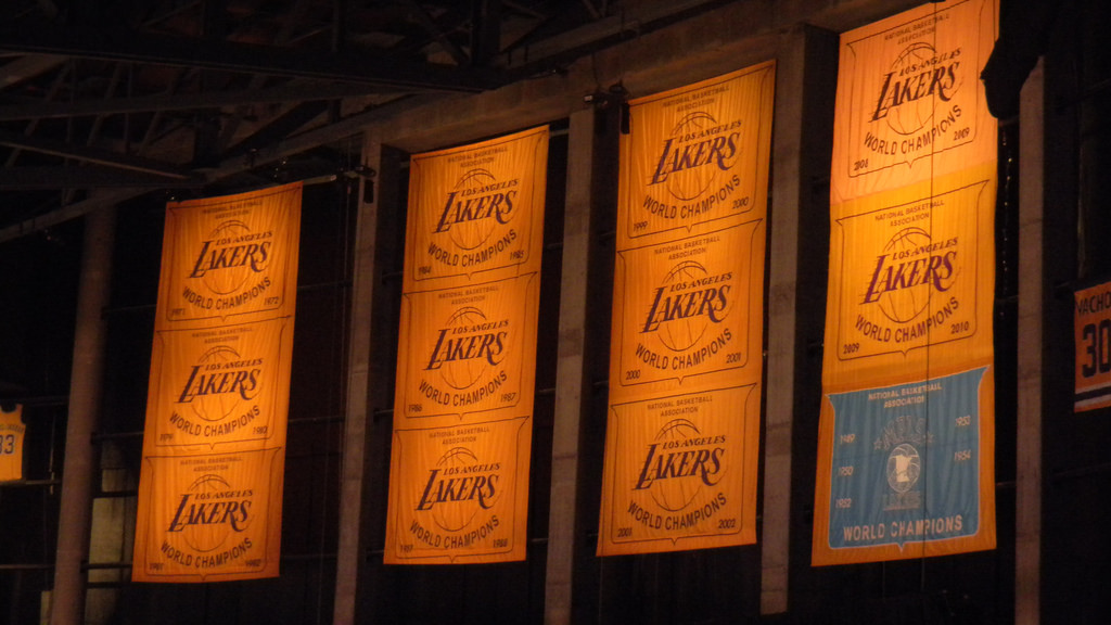 Lakers Championship Banners