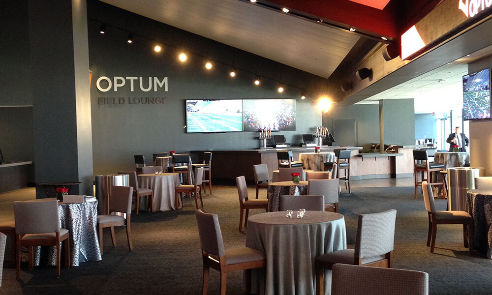 Optum Field Lounge Gillette Stadium New England Patriots Pats game