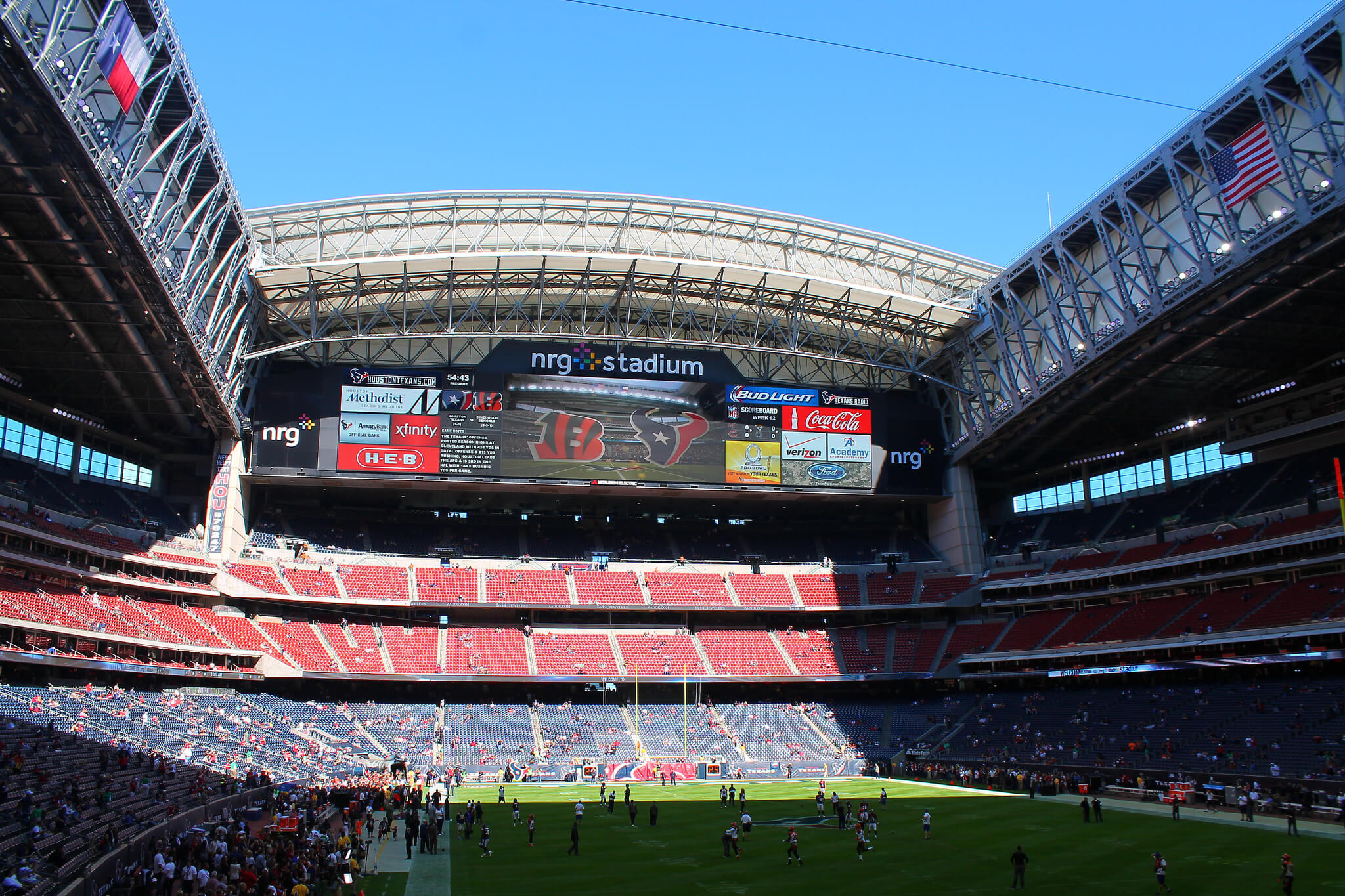 Houston Texans team Before kickoff in NRG Stadium
