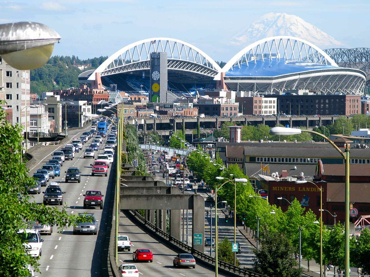 Home of the Seattle Seahawks CenturyLink Field design exterior view