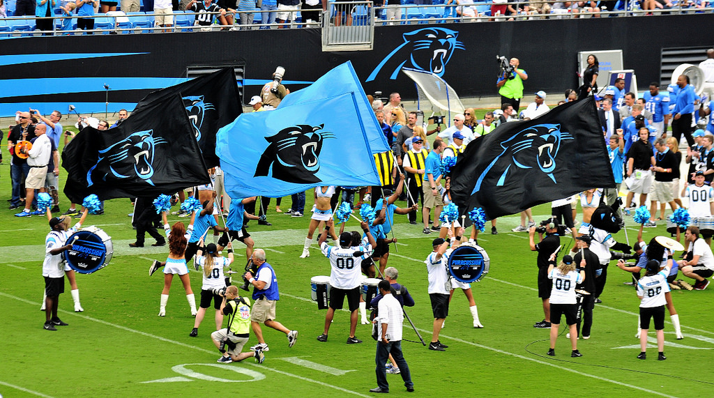 the Black and Blue Crew at Bank of America Stadium