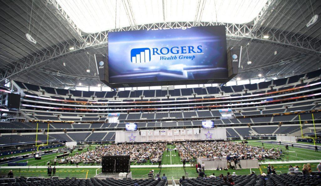 Giant Jumbotron at AT&T Stadium