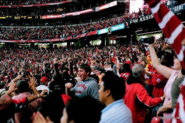 Atlanta Falcons fans cheer