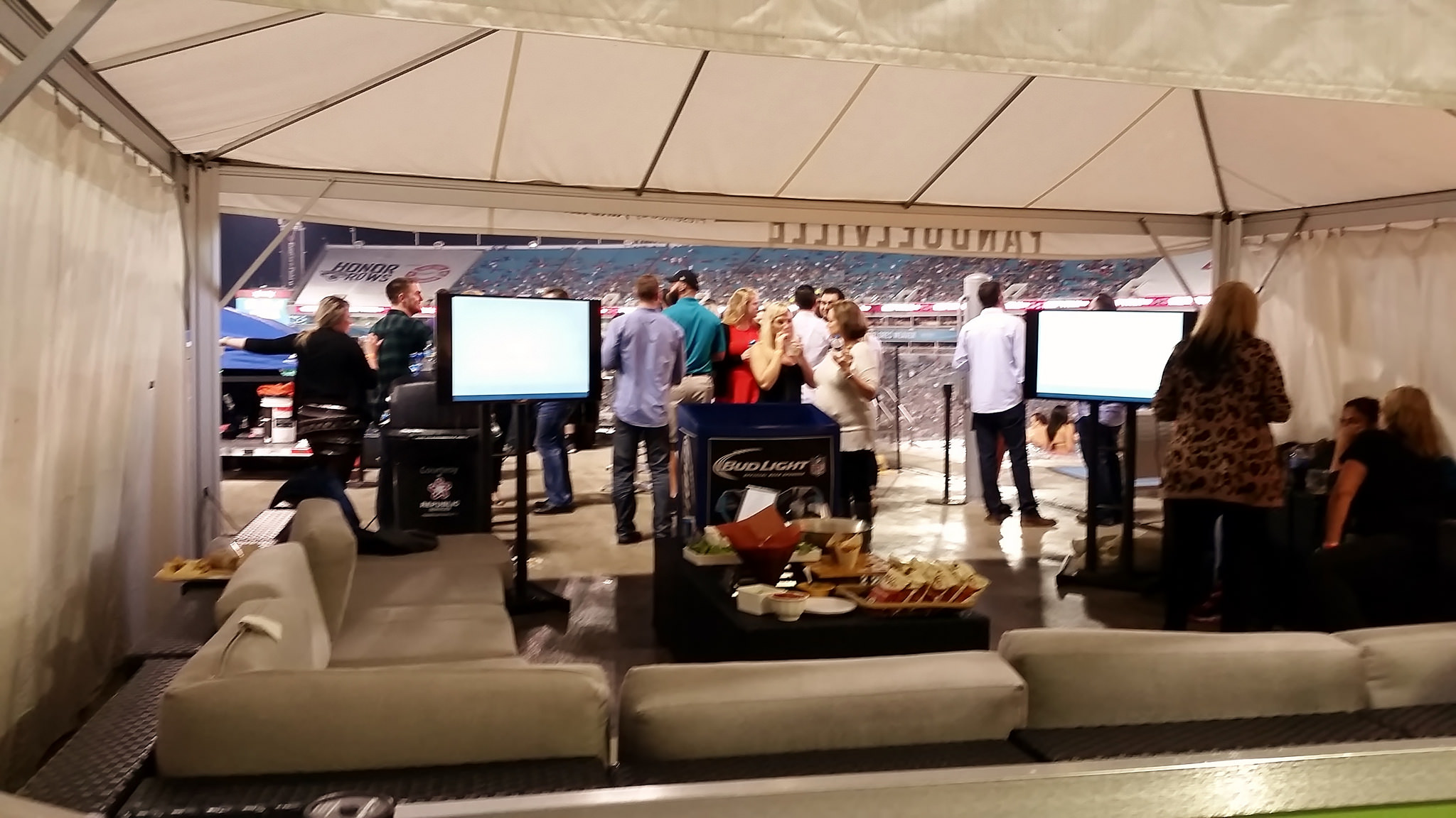 fans enjoy luxury tailgating experience at the Jaguars Cabanas in TIAA Bank Field