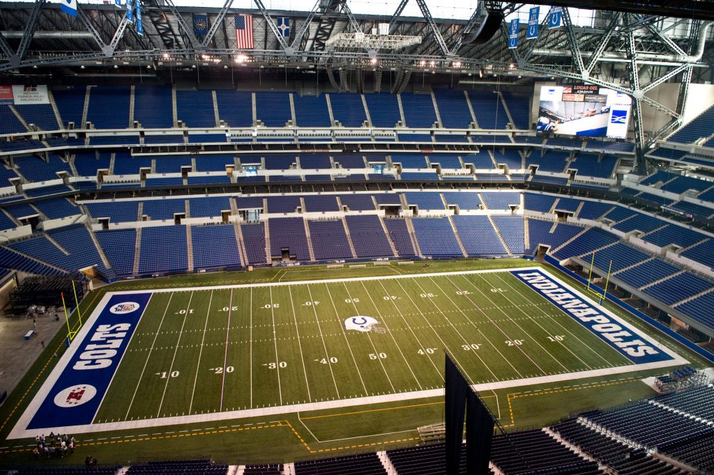 empty Lucas Oil Stadium of Indianapolis Colts
