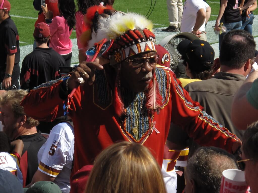 Chief Zee Washington Redskins superfan on gameday at FedEx Field
