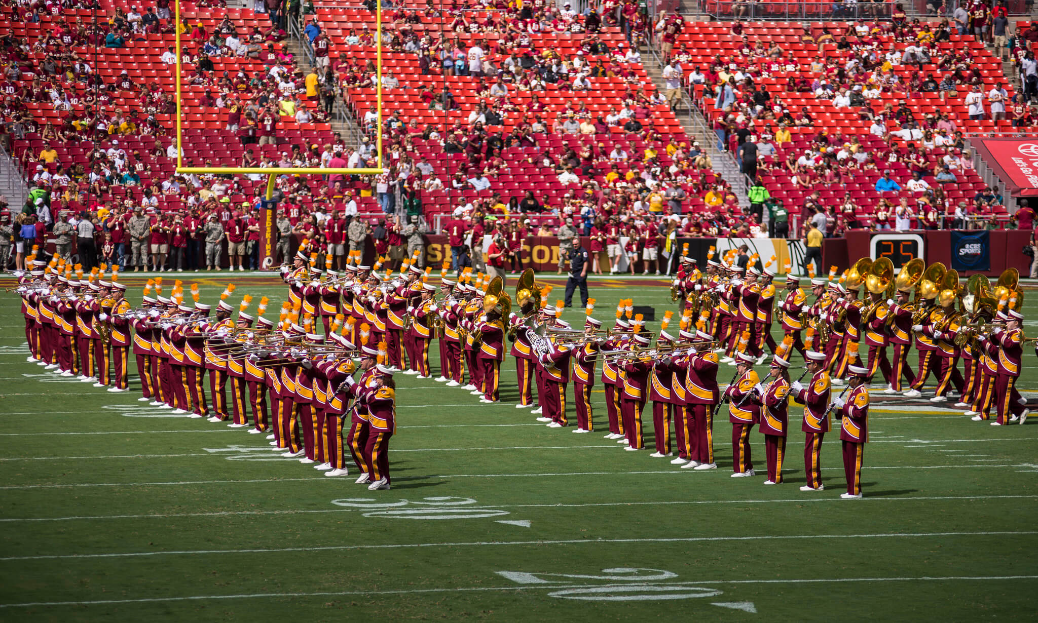 Washington Redskins band at FedEx Field