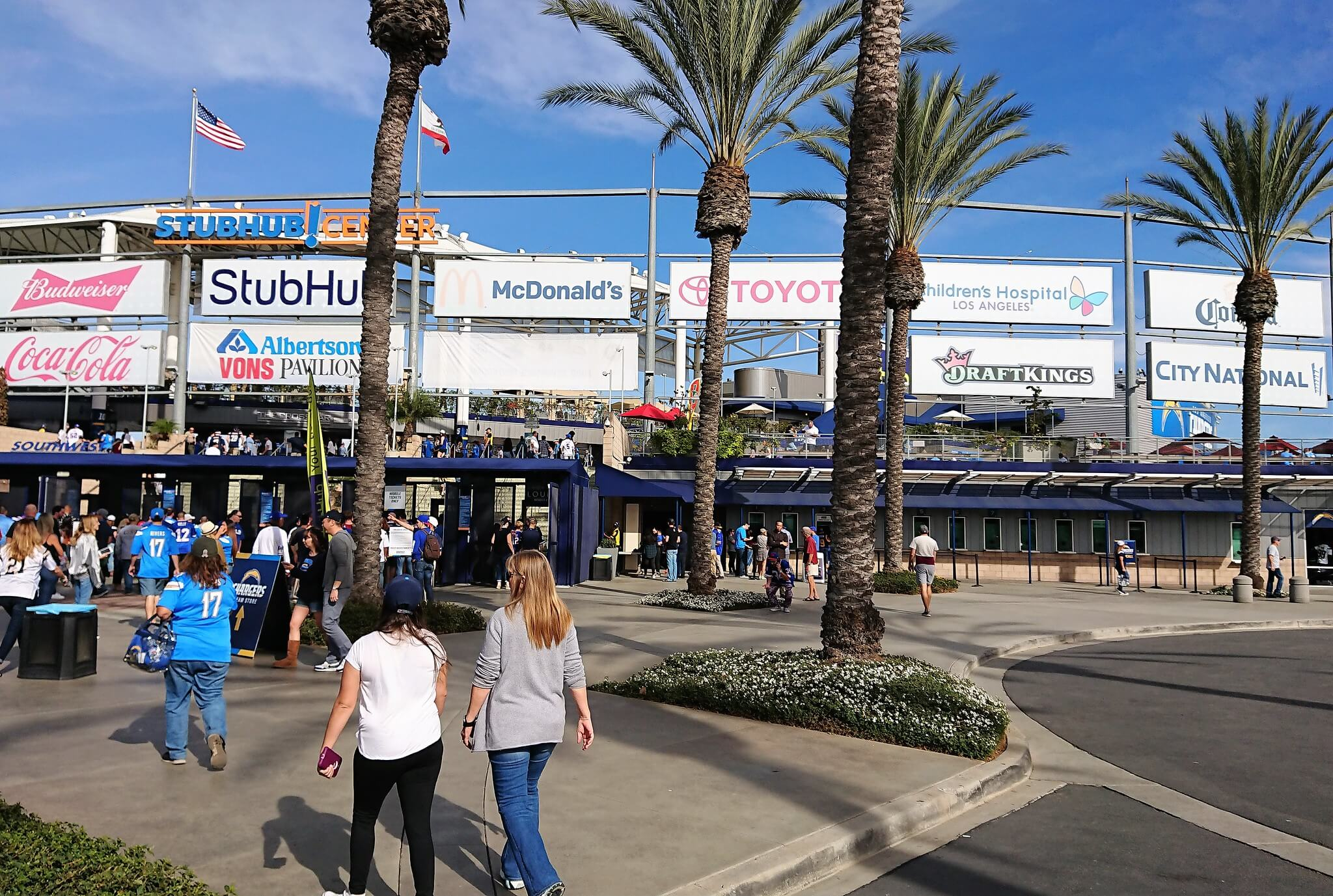 StubHub Center home of the Los Angeles Chargers