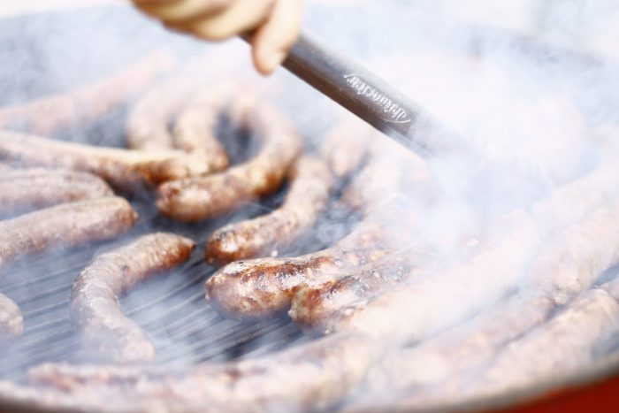 Tailgating Grill Brats