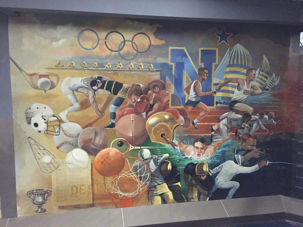 Navy Alumni Hall mural