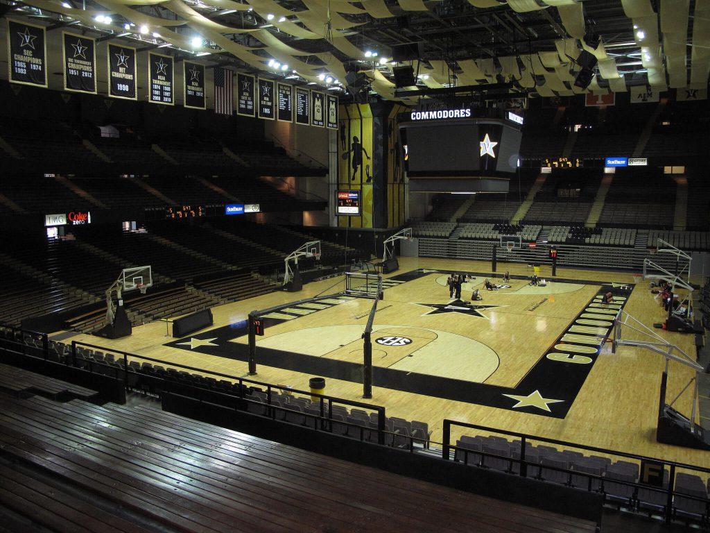 Vanderbilt Memorial Gymnasium banners