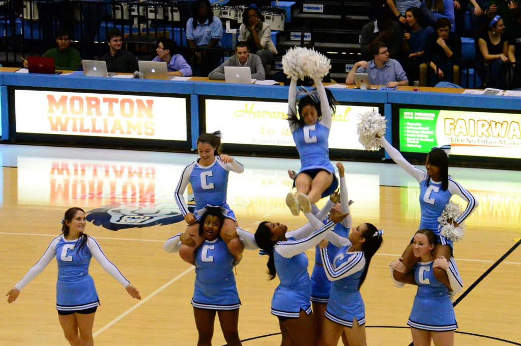Columbia lions cheerleaders basketball