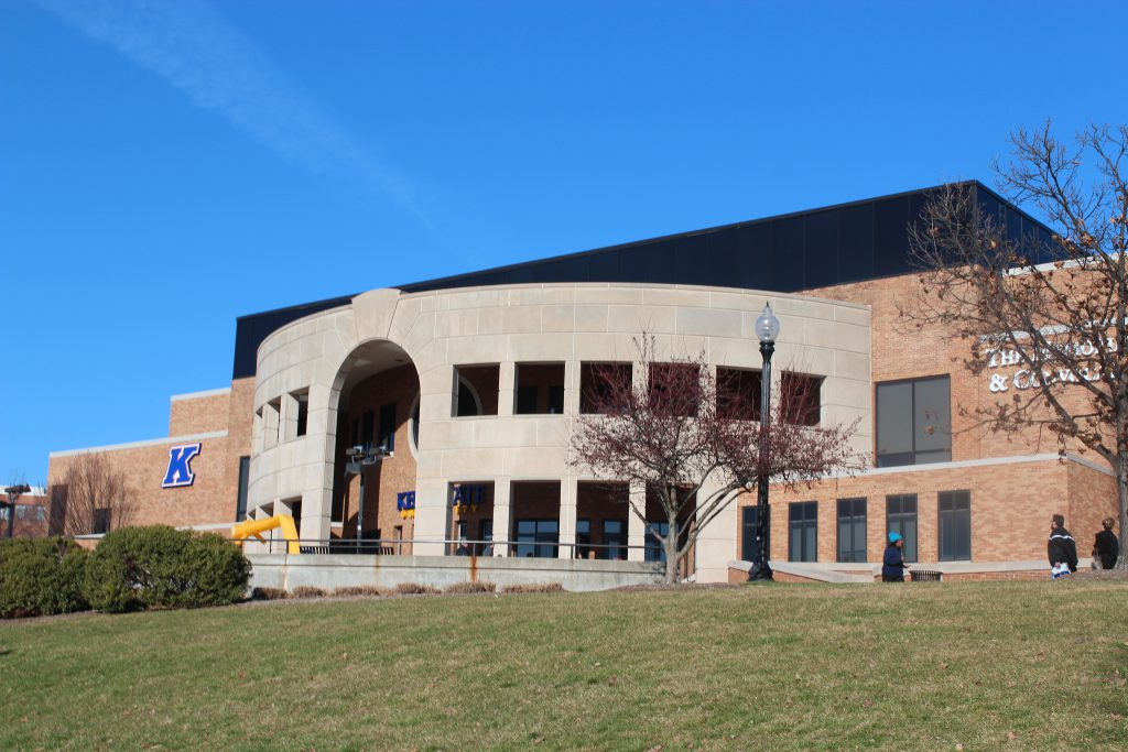 Kent State basketball arena banners
