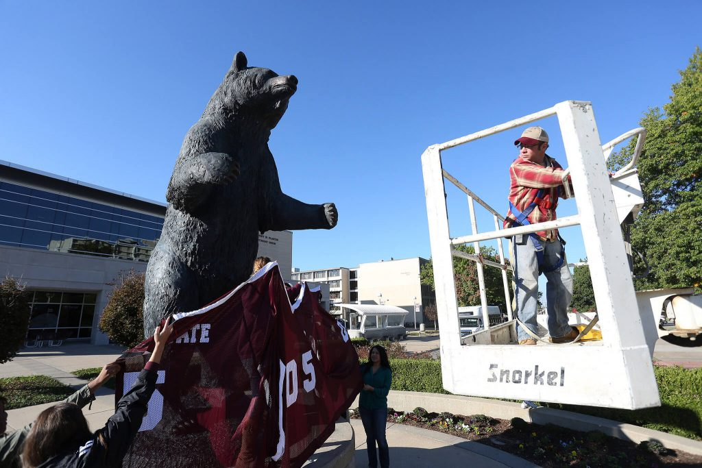 Missouri State Bear Statue Robert W Plaster Stadium