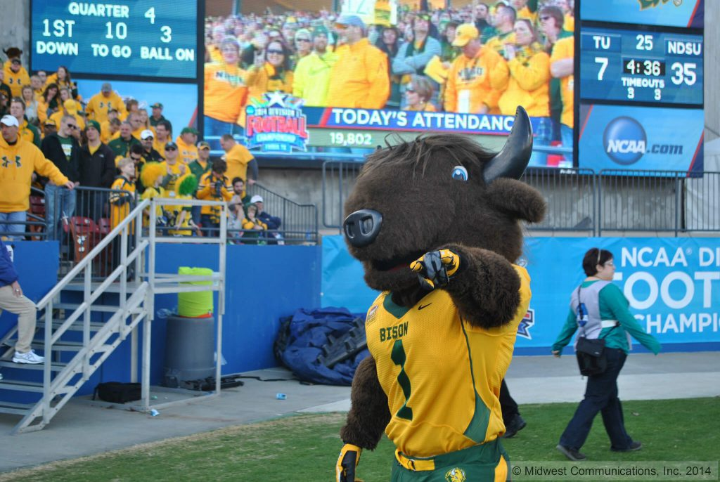NDSU Bisons football mascot Thundar