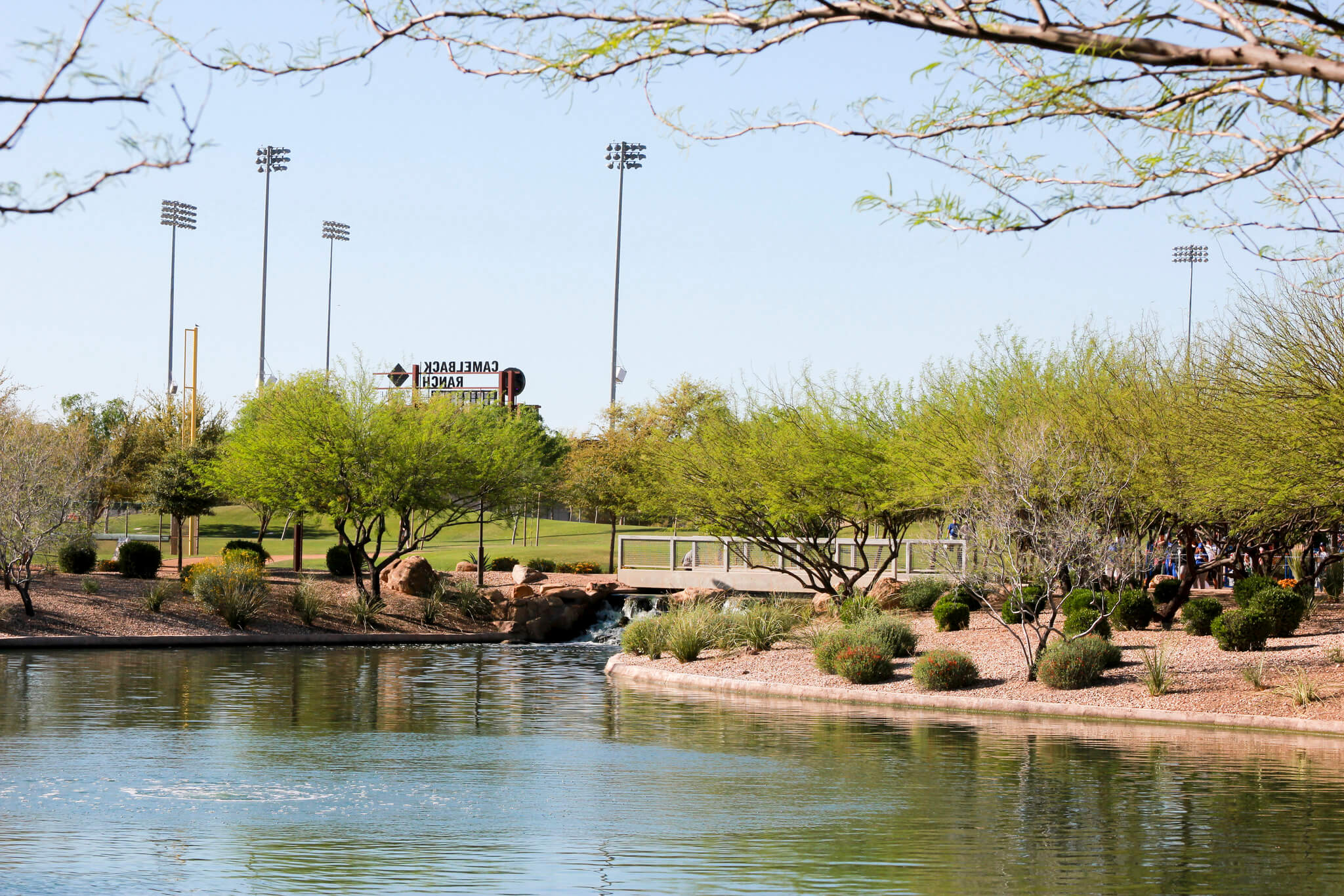 Camelback Ranch lake