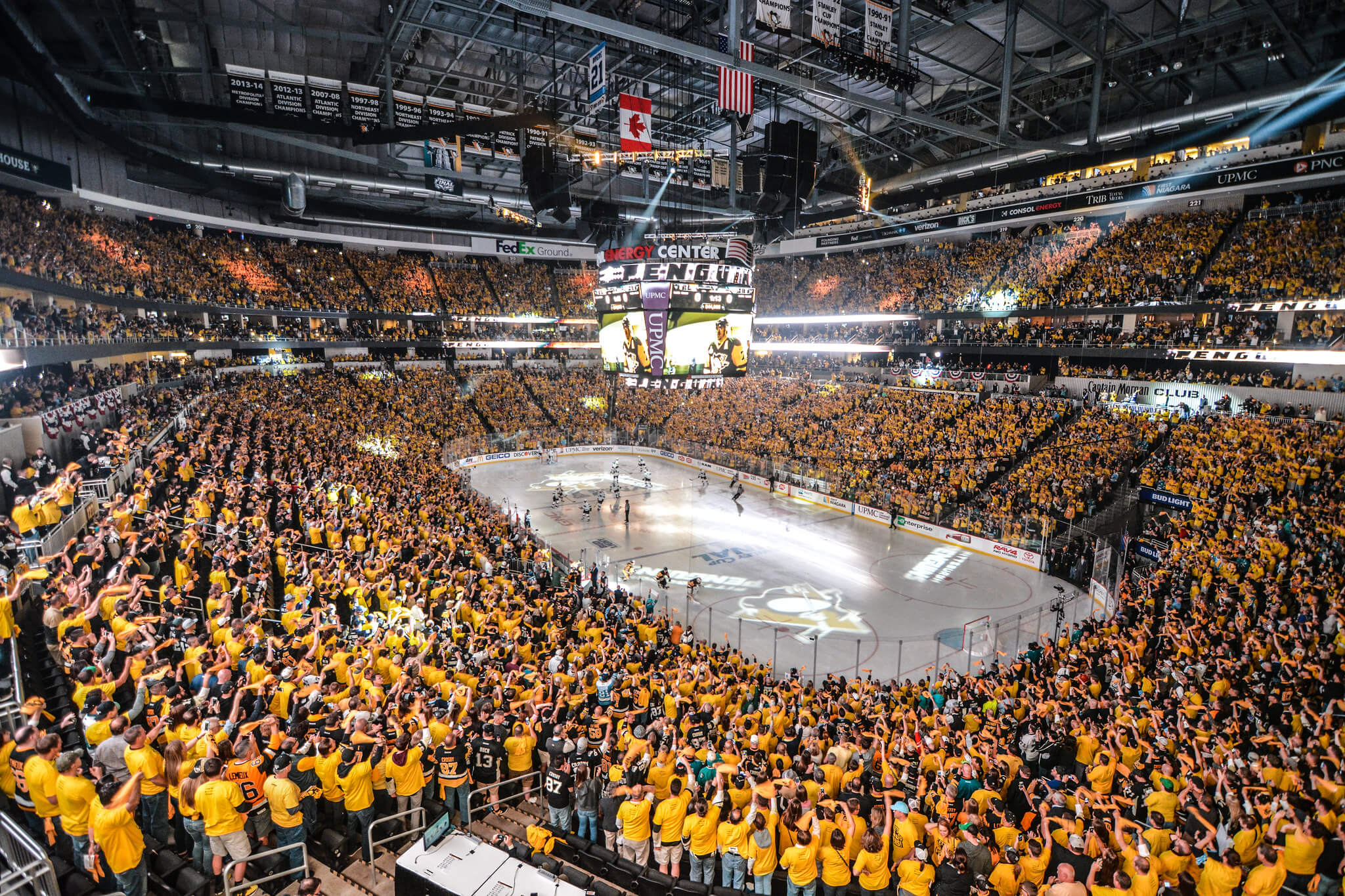 Pittsburgh Penguins fans at the game