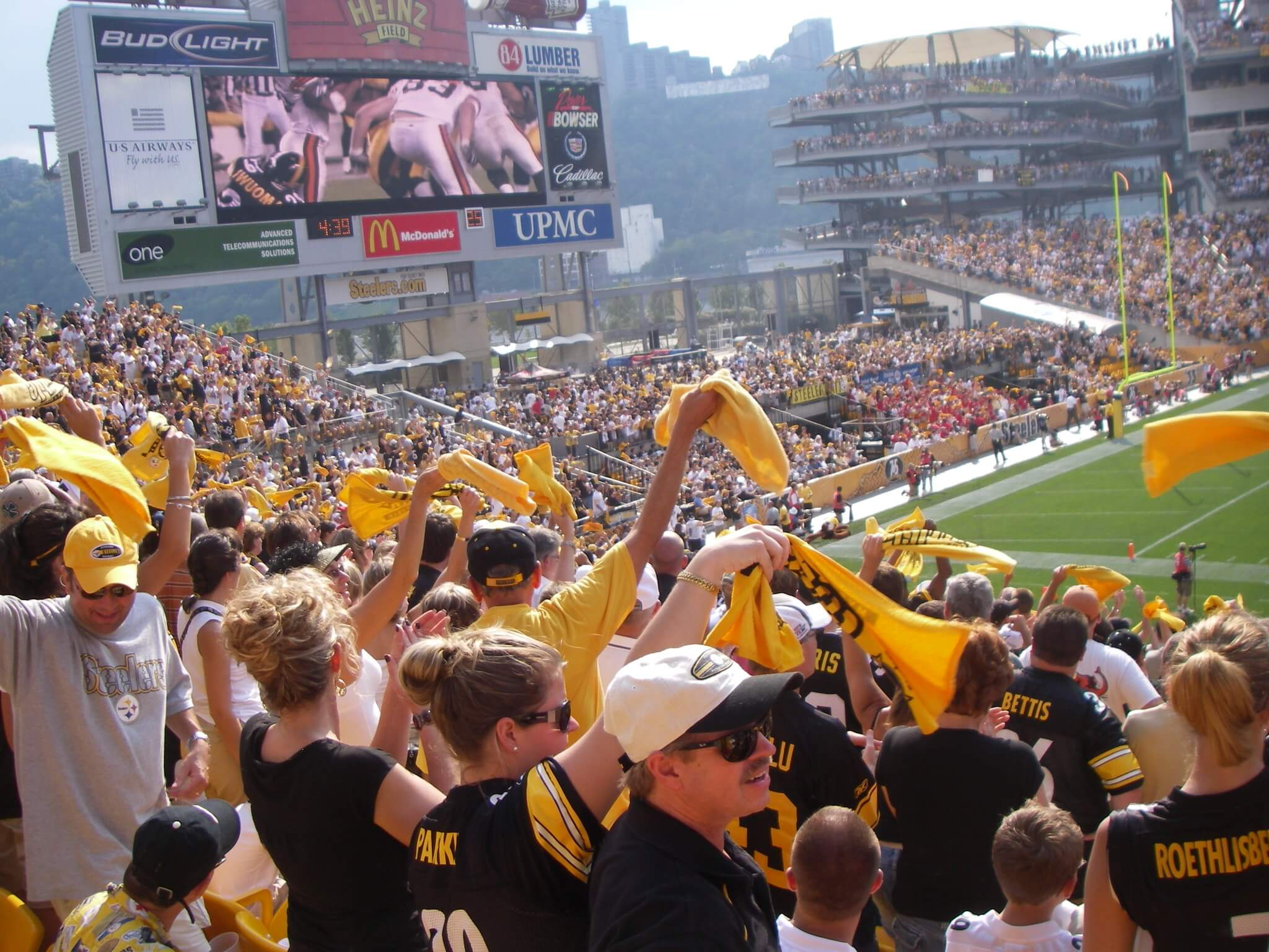 Pittsburgh Steelers fans terrible towel tradition