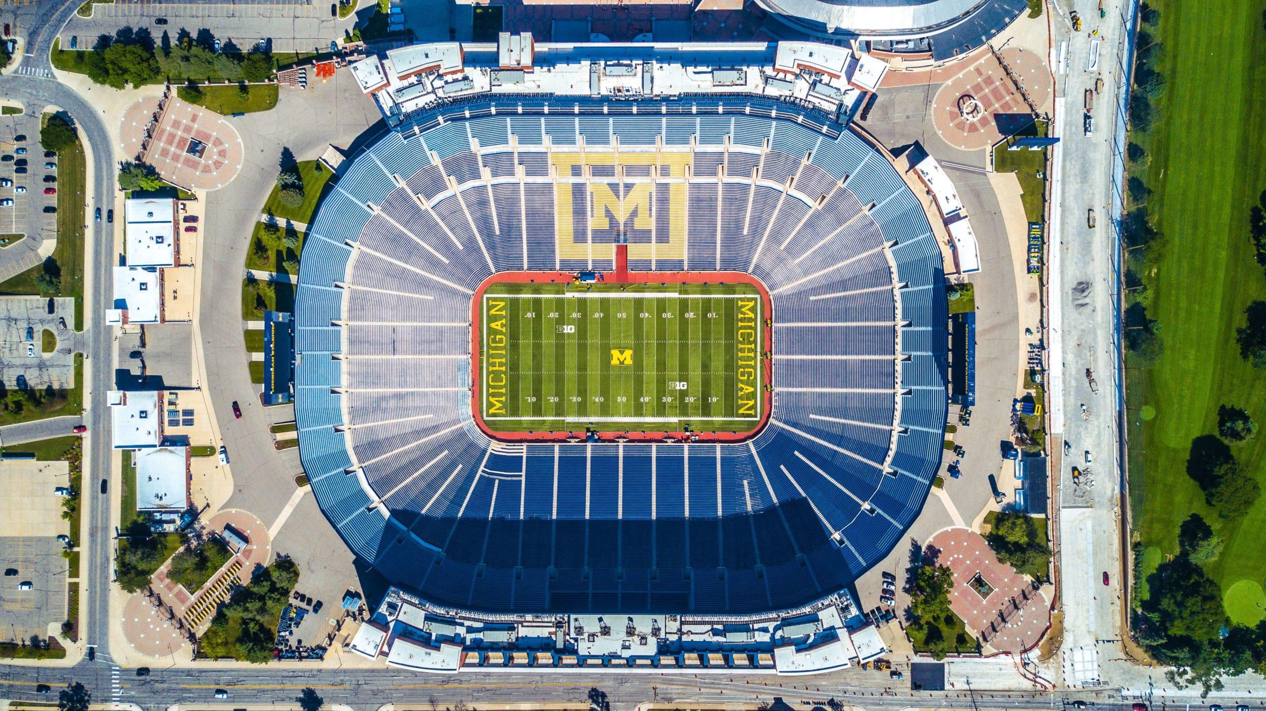 Michigan Stadium aerial view