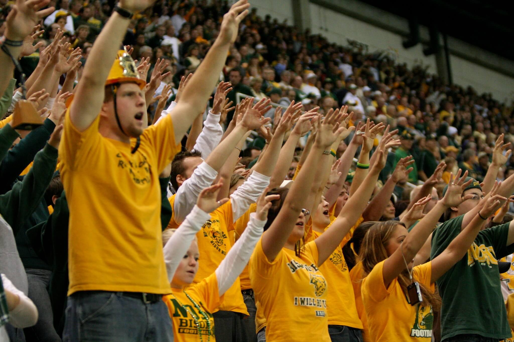 North Dakota State Bison fans