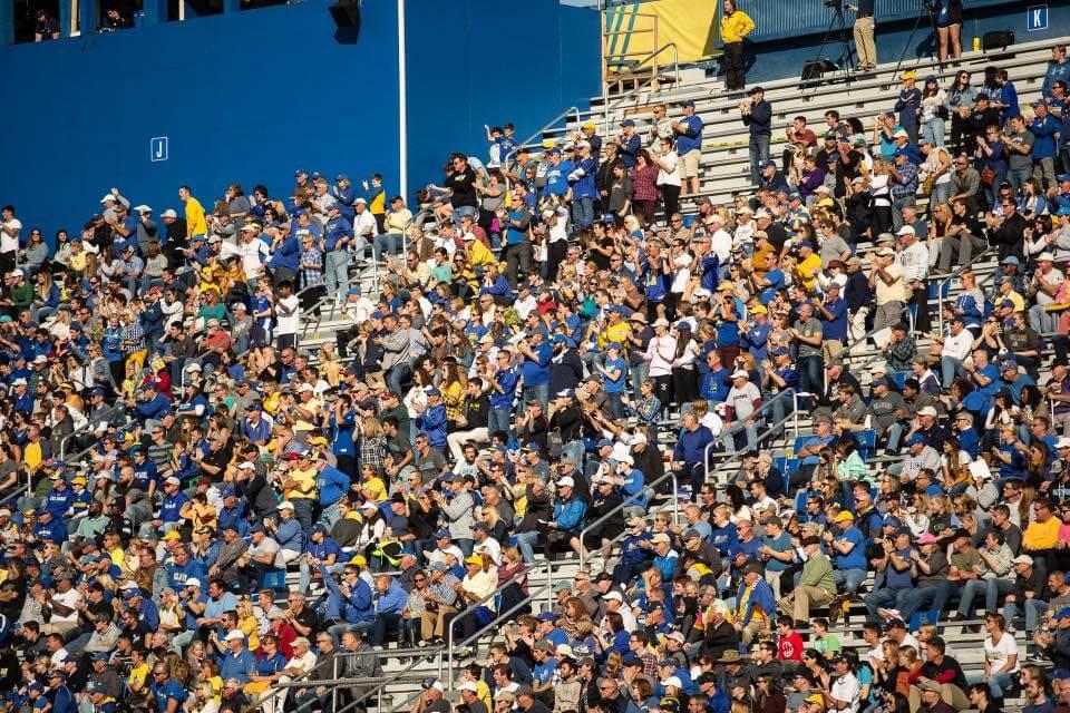 Delaware football game fans