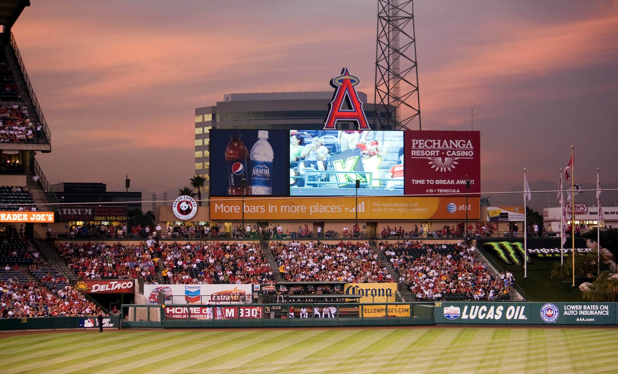 Angels Stadium ballpark baseball