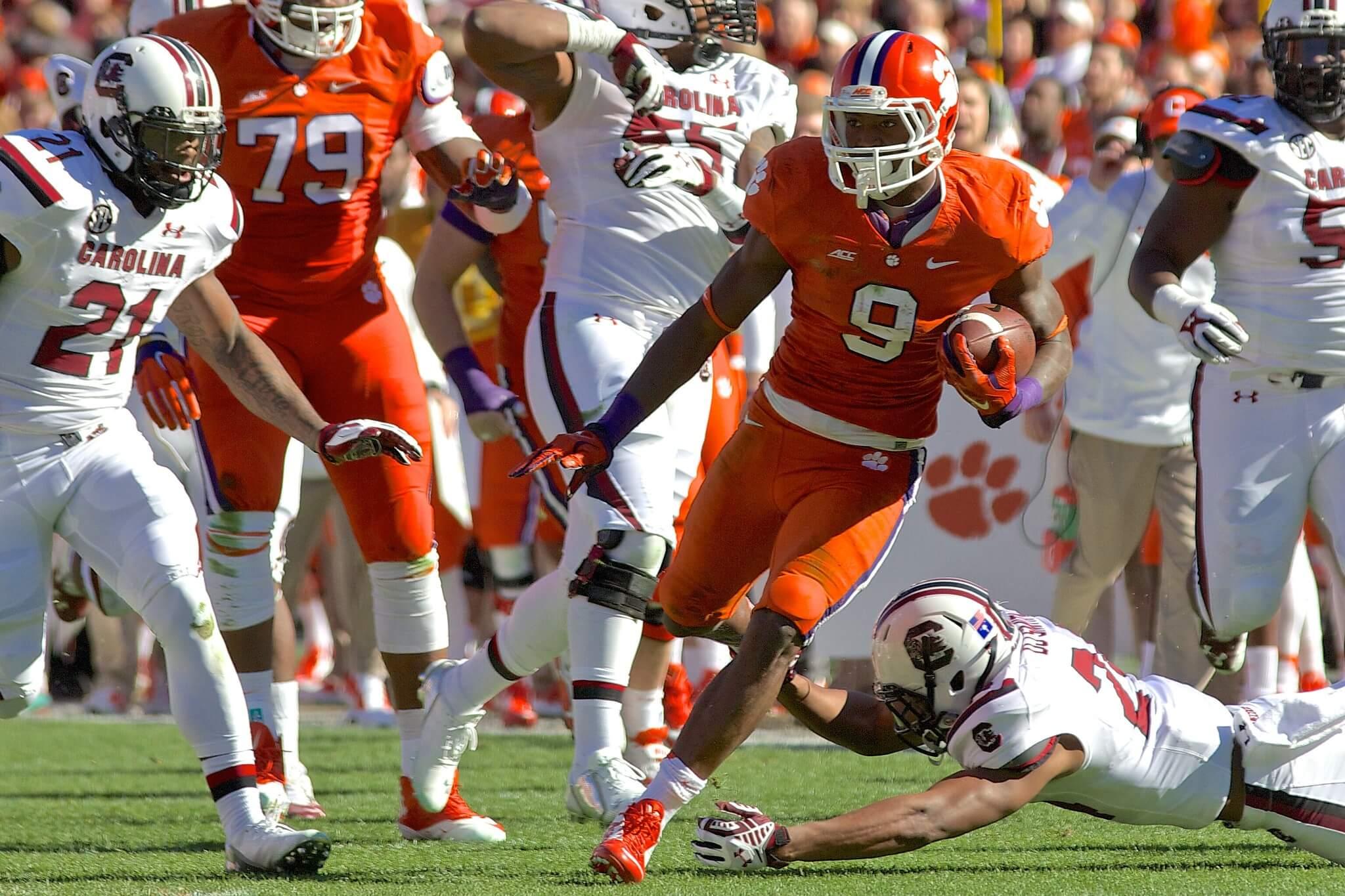 Clemson vs South Carolina Palmetto Bowl football game