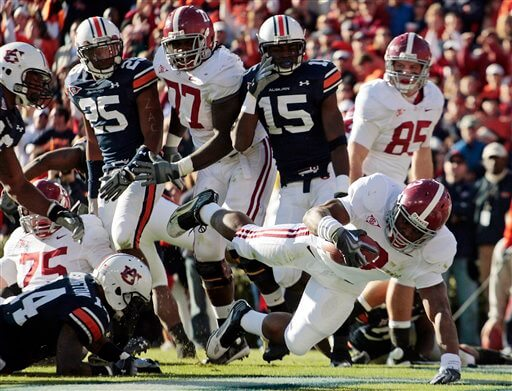 Alabama vs Auburn Iron Bowl football game