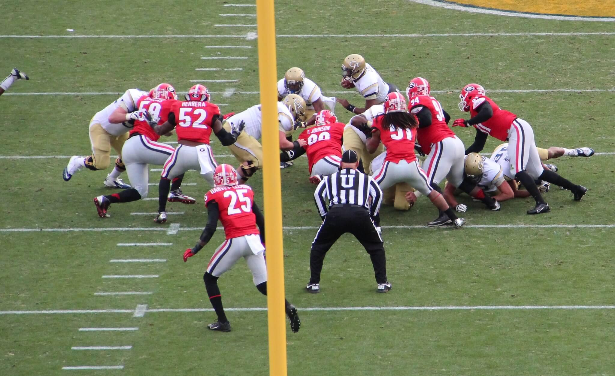 Georgia vs Georgia Tech football game